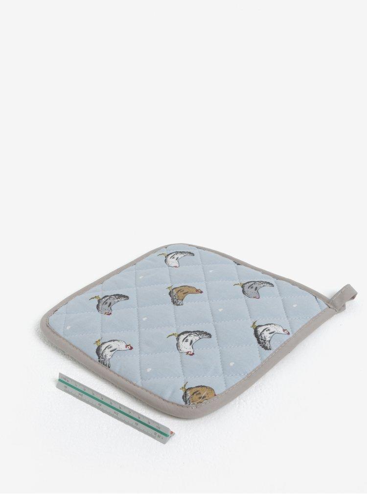 Modrá chňapka s motivem slepic Cooksmart