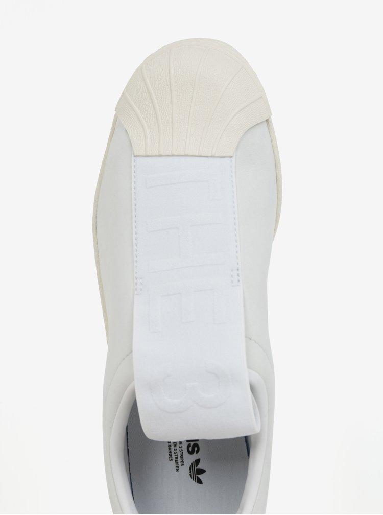 Bílé dámské kožené slip on adidas Originals Tubular Superstar