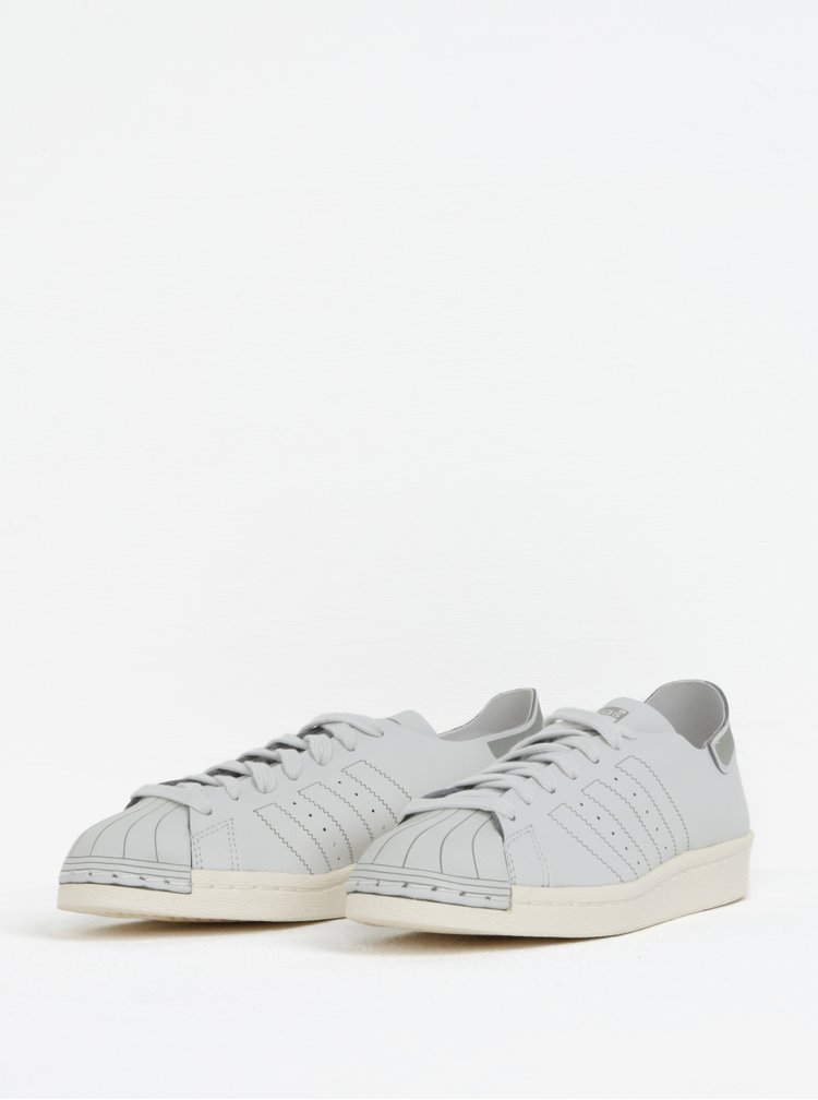 Světle šedé dámské kožené tenisky adidas Originals Superstar