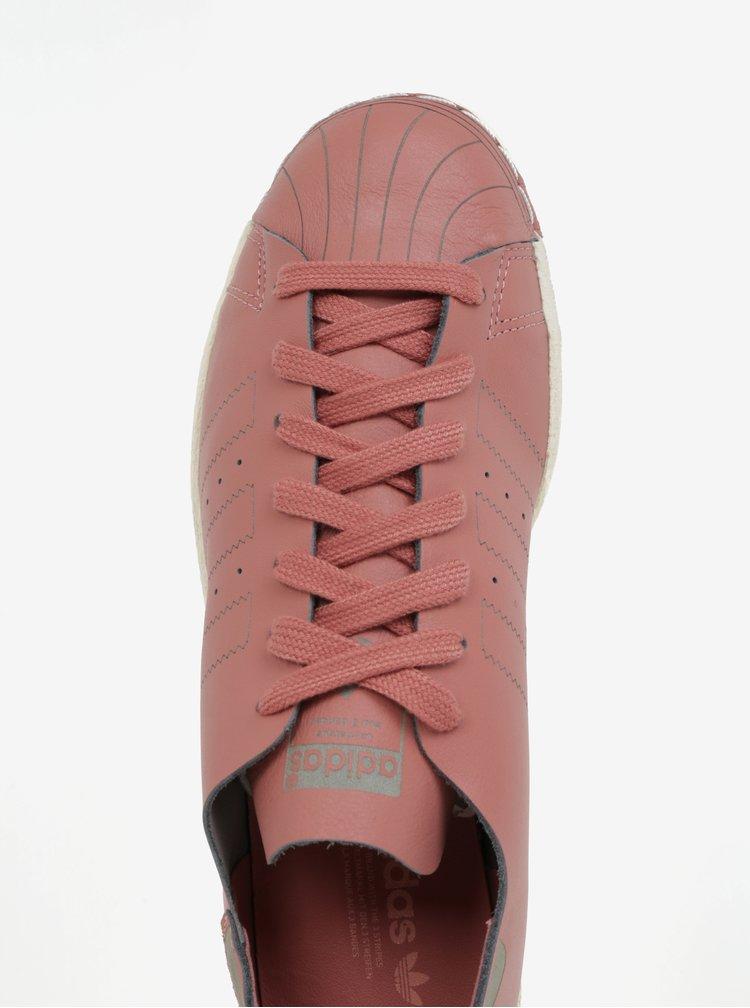 Starorůžové dámské kožené tenisky adidas Originals Superstar