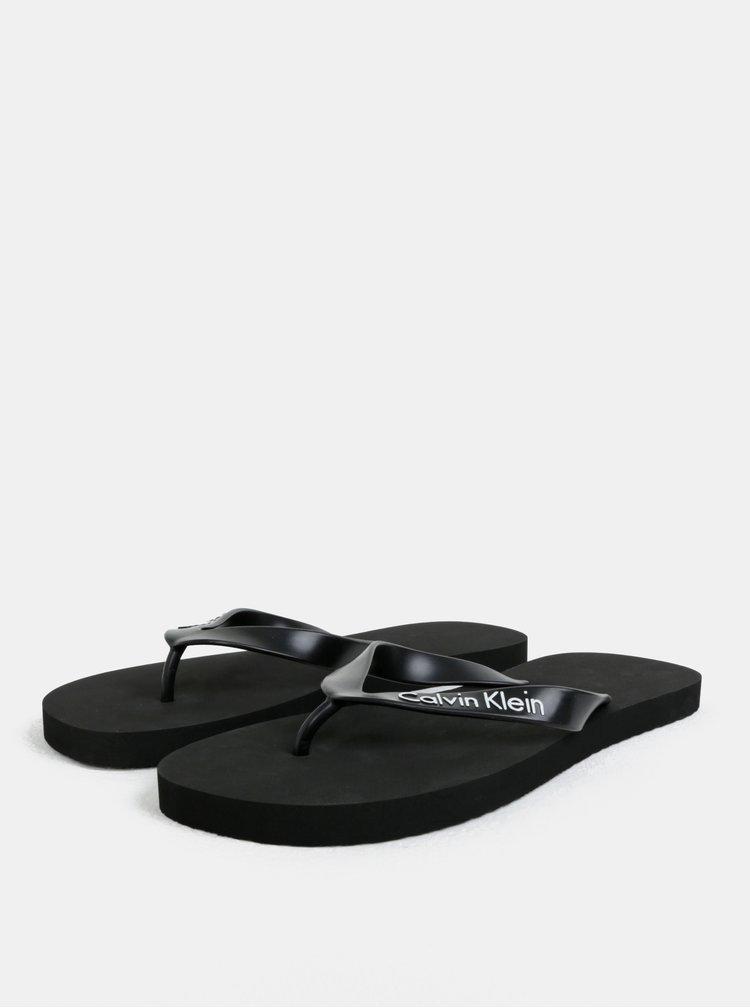 Černé pánské žabky Calvin Klein