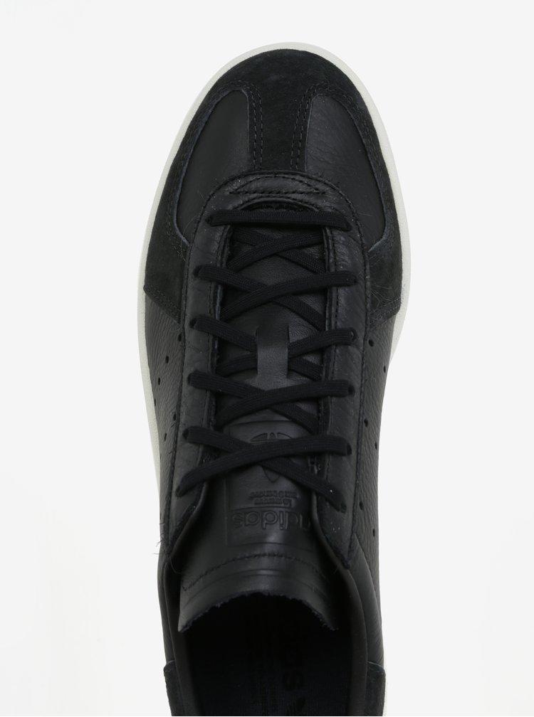 Černé pánské kožené tenisky adidas Originals Avenue