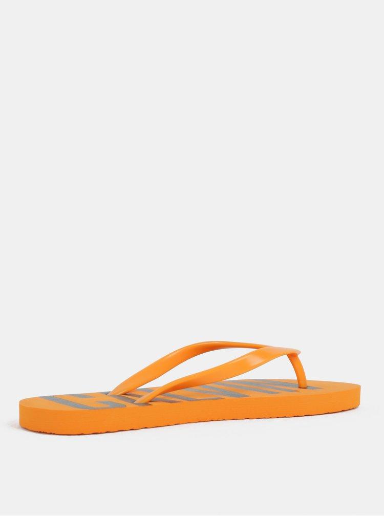 Oranžové dámske žabky Calvin Klein Underwear