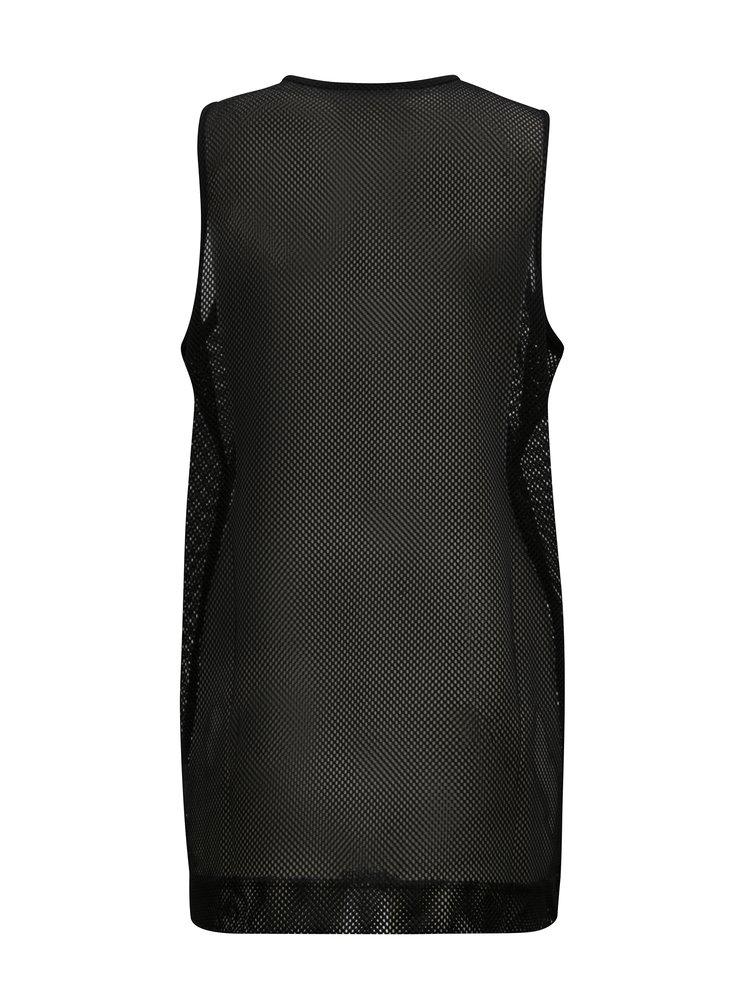 Černé dámské síťované tílko s potiskem Nike Tanks
