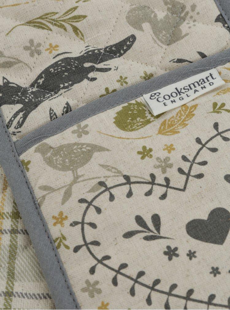Krémové chňapky s lesním motivem Cooksmart