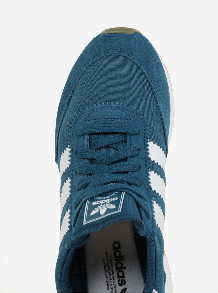 Petrolejové dámské tenisky se semišovými detaily adidas Originals Iniki Runner