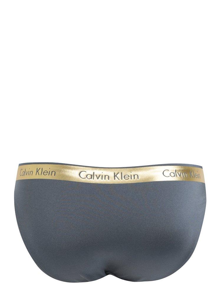 Šedý dámský spodní díl plavek Calvin Klein Underwear