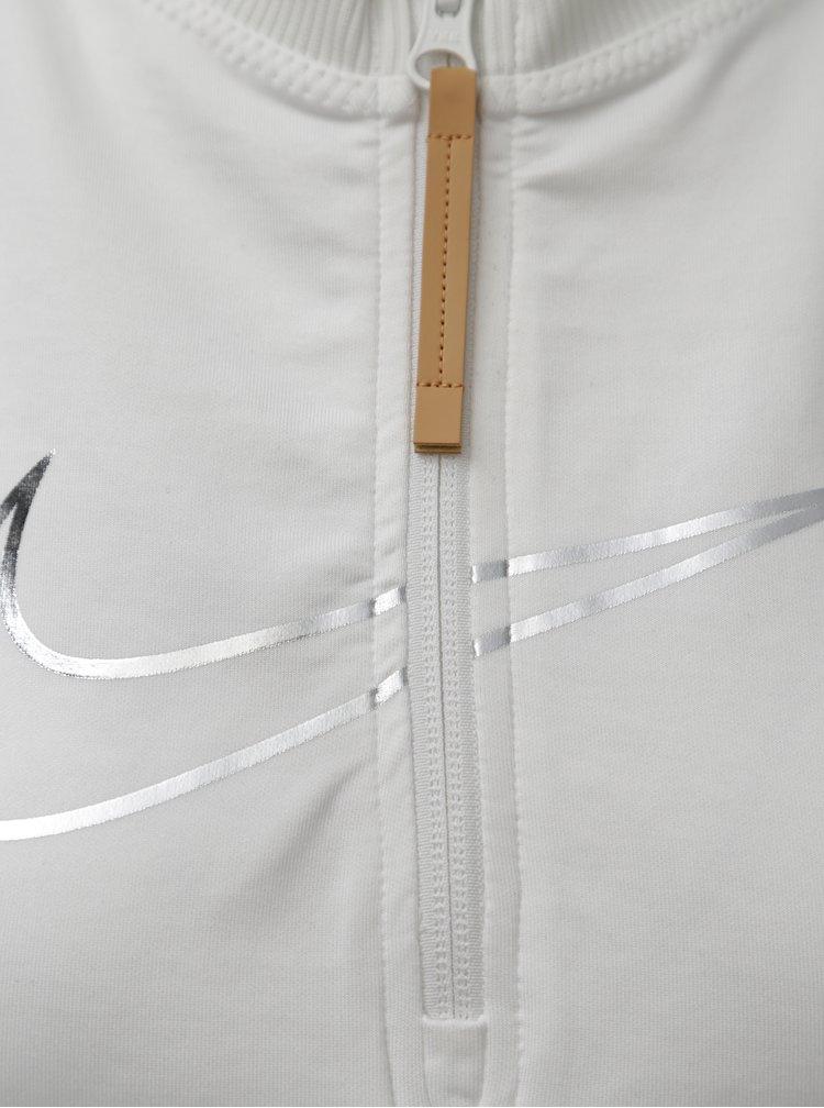 Bílý crop top se síťovanými zády Nike