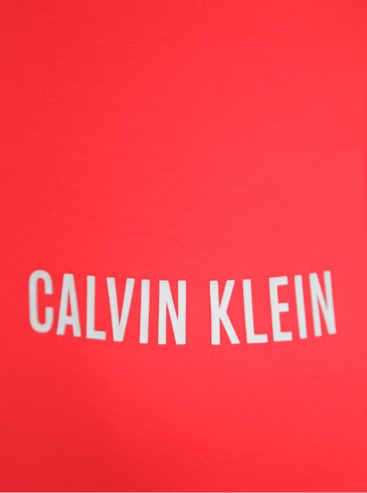 Červené dámské jednodílné plavky Calvin Klein