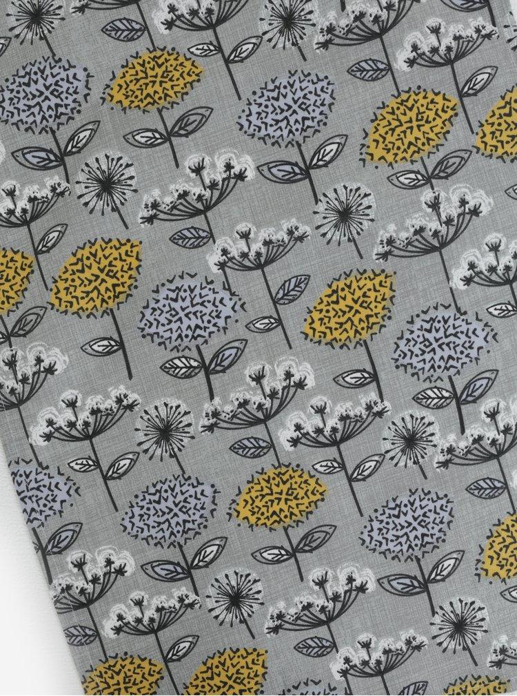 Hořčicová sada utěrek s květovaným motivem Cooksmart