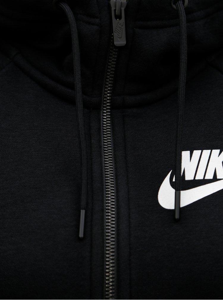 Černá dámská mikina na zip Nike Rally