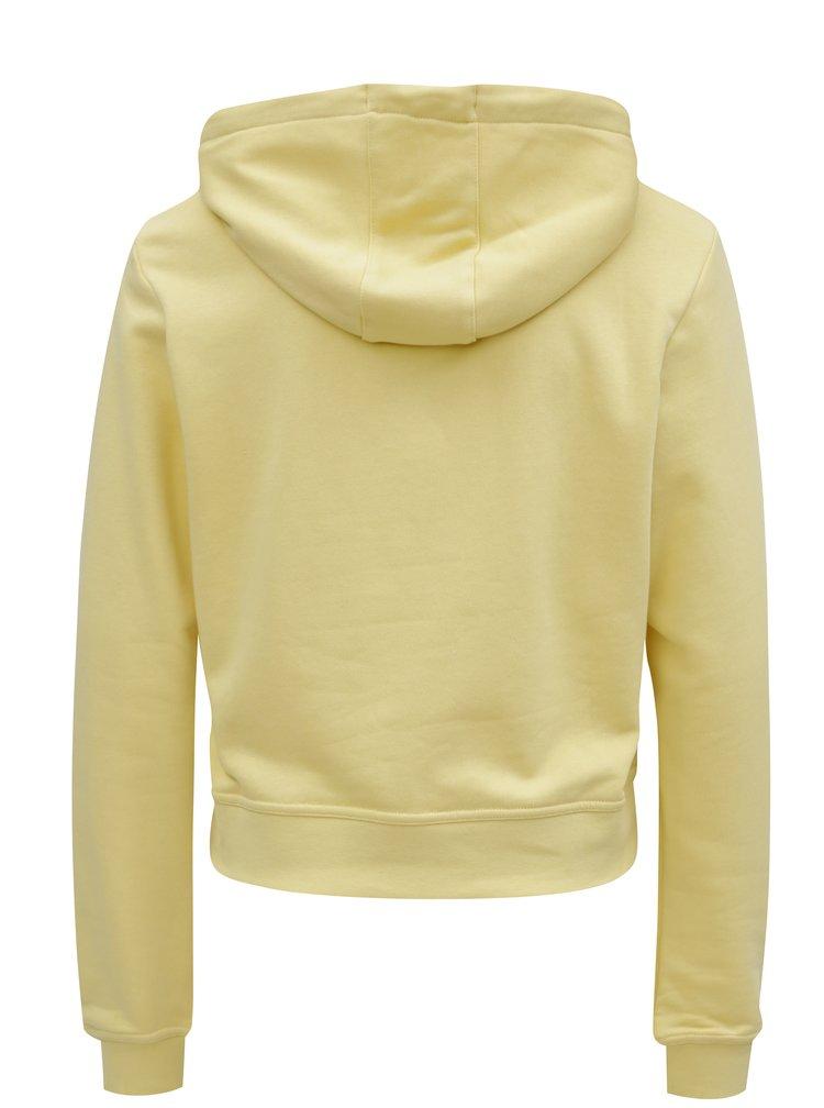 Žlutá dámská crop mikina s kapucí Nike Hoodie