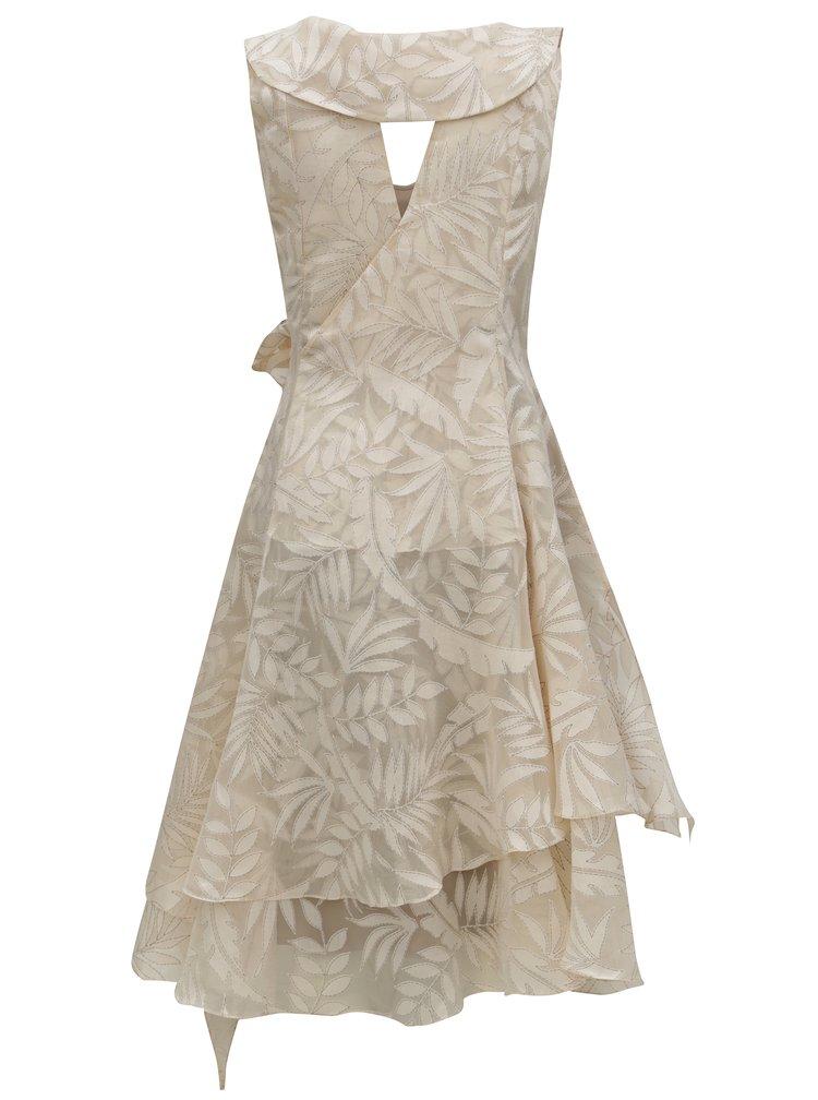 Béžové zavinovací vzorované šaty Alexandra Ghiorghie Trench