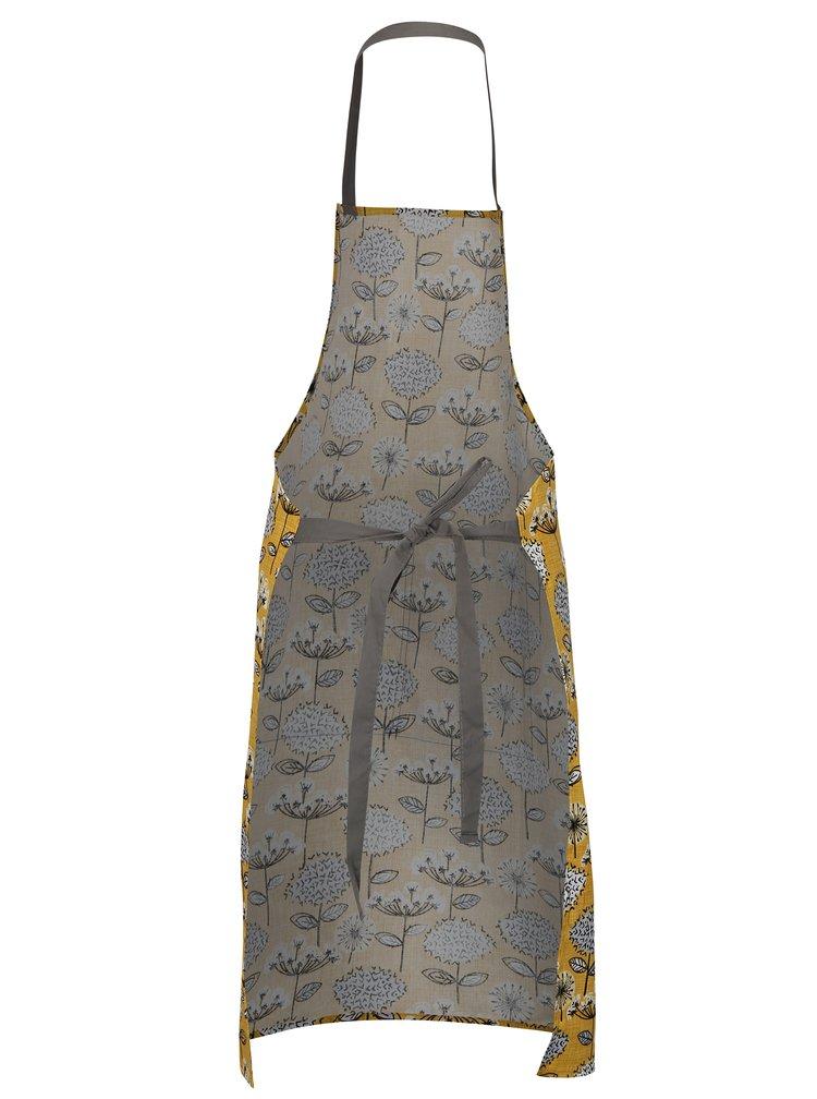 Horčicová zástera s kvetovaným motívom Cooksmart