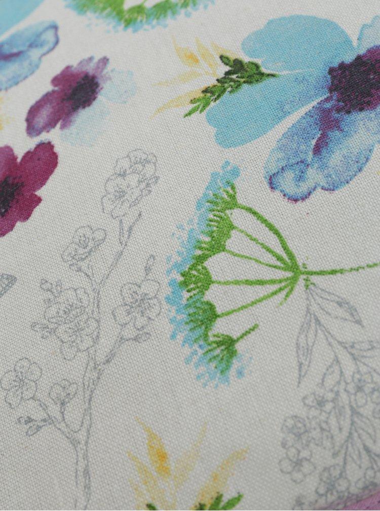 Bílo-fialová čepice na konvici s květovaným motivem Cooksmart