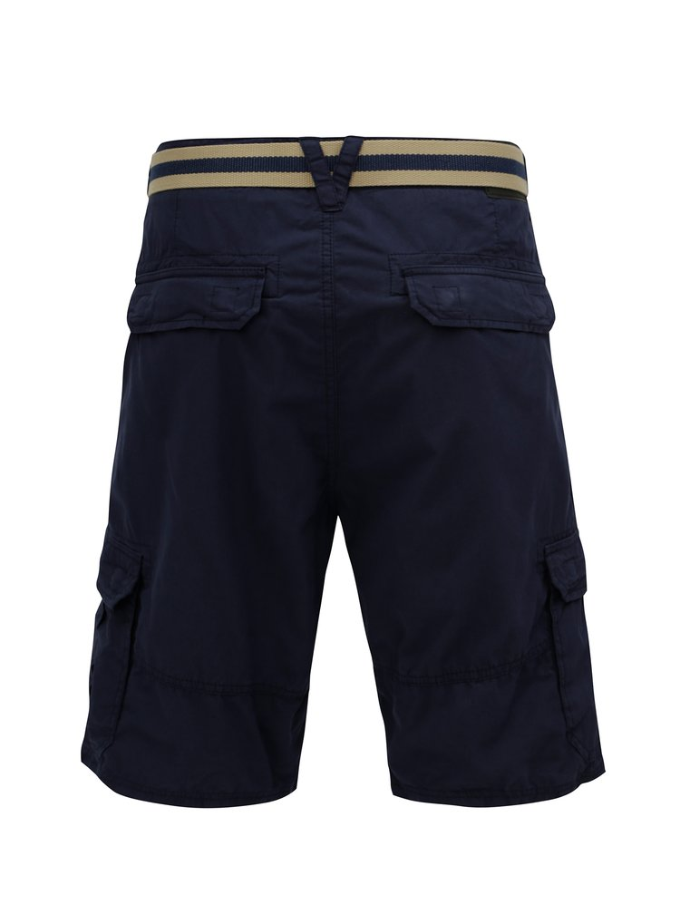Pantaloni scurti barbatesti regular fit albastru inchis cu curea O'Neill Point Break
