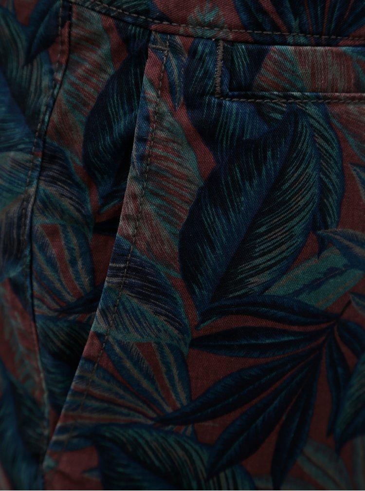 Vínovo-modré pánské vzorované regular fit kraťasy O'Neill Yardage