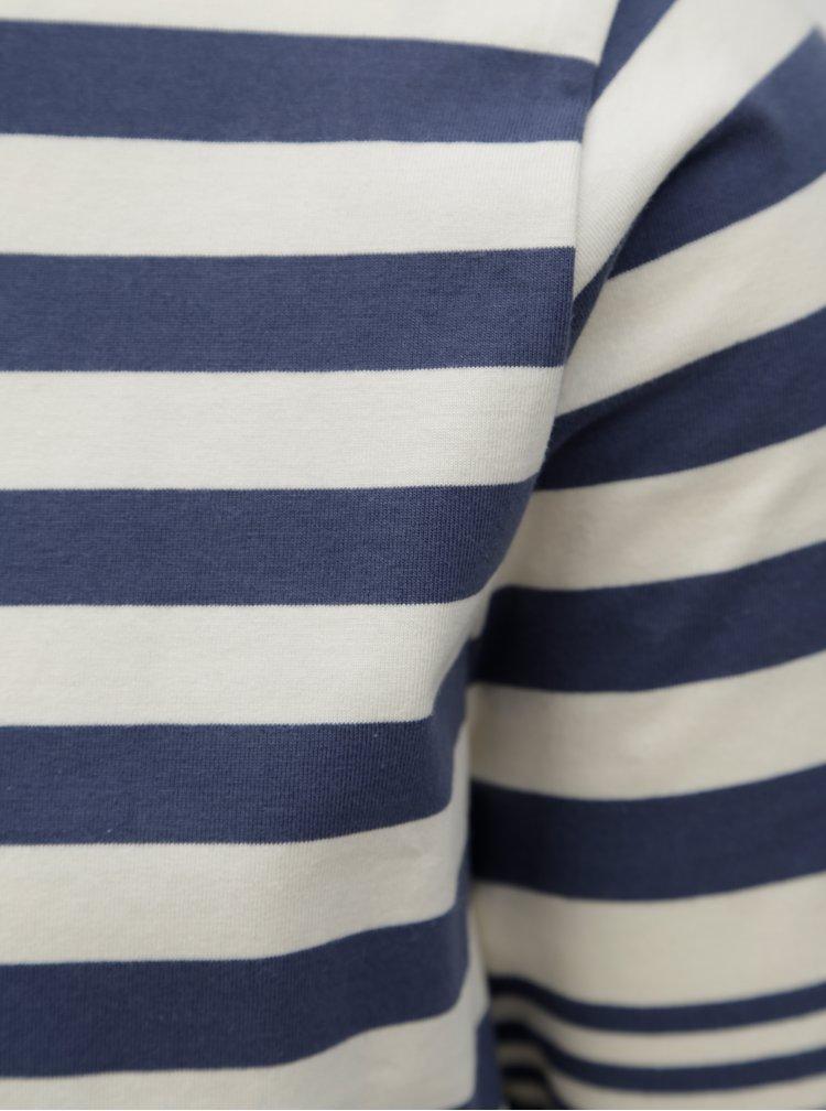 Bluza crem-albastru cu dungi Dstrezzed