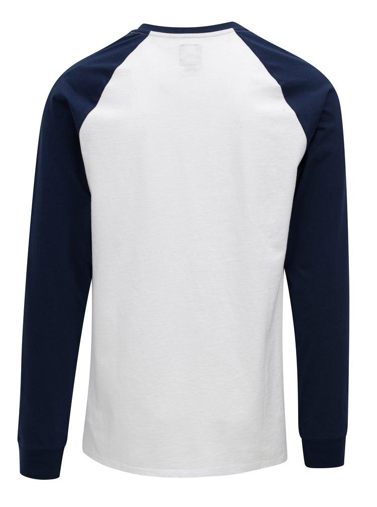 Modro-bílé pánské tričko s knoflíky VANS Denton