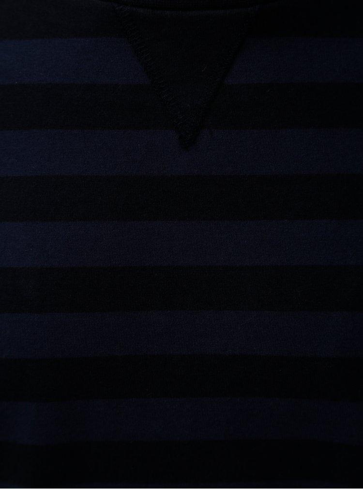 Tmavě modrá pruhovaná mikina Dstrezzed