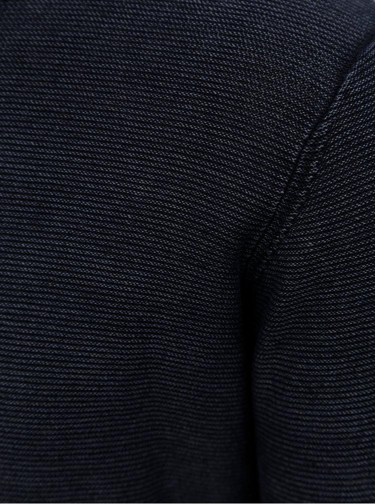 Tmavě modrý pruhovaný lehký svetr Dstrezzed