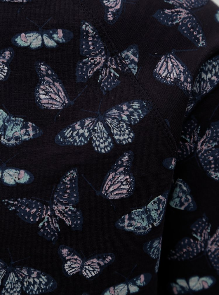Tmavě modrá vzorovaná mikina Dstrezzed