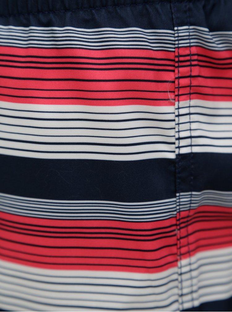 Modro-červené pánské pruhované plavky O'Neill Bondi