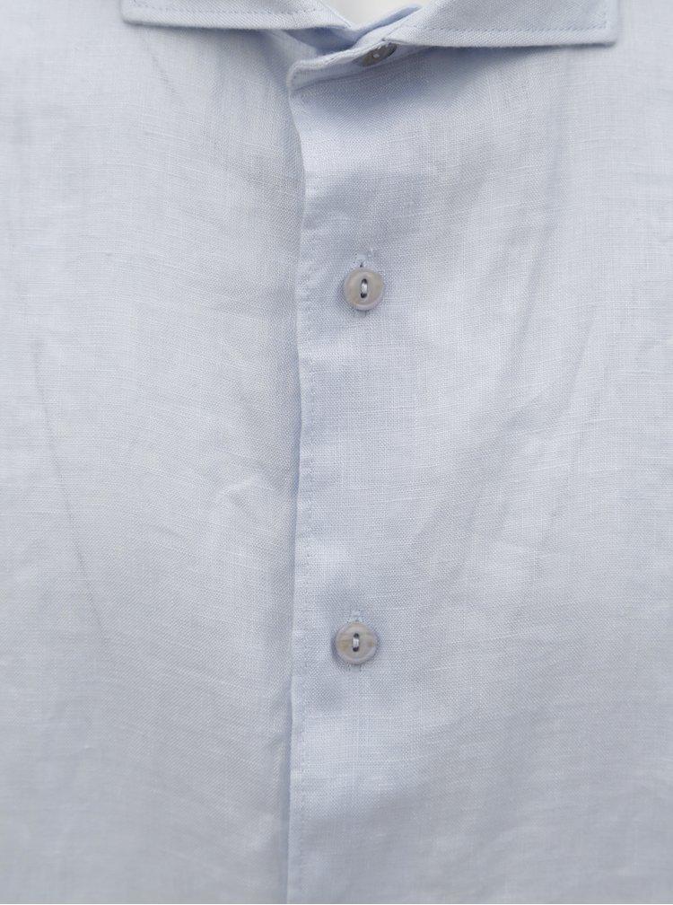 Světle modrá lněná košile Dstrezzed