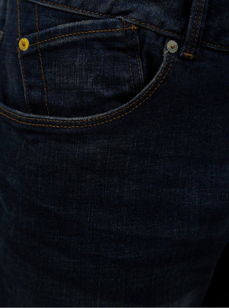 Blugi regular slim fit albastru inchis Dstrezzed