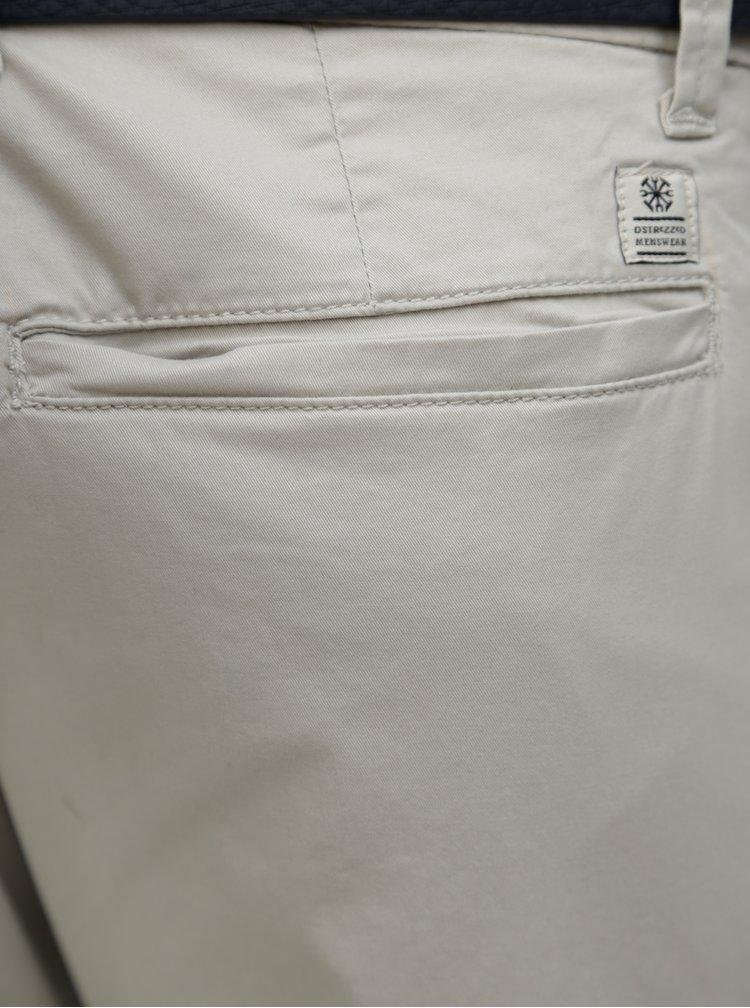 Světle šedé chino kalhoty s páskem Dstrezzed