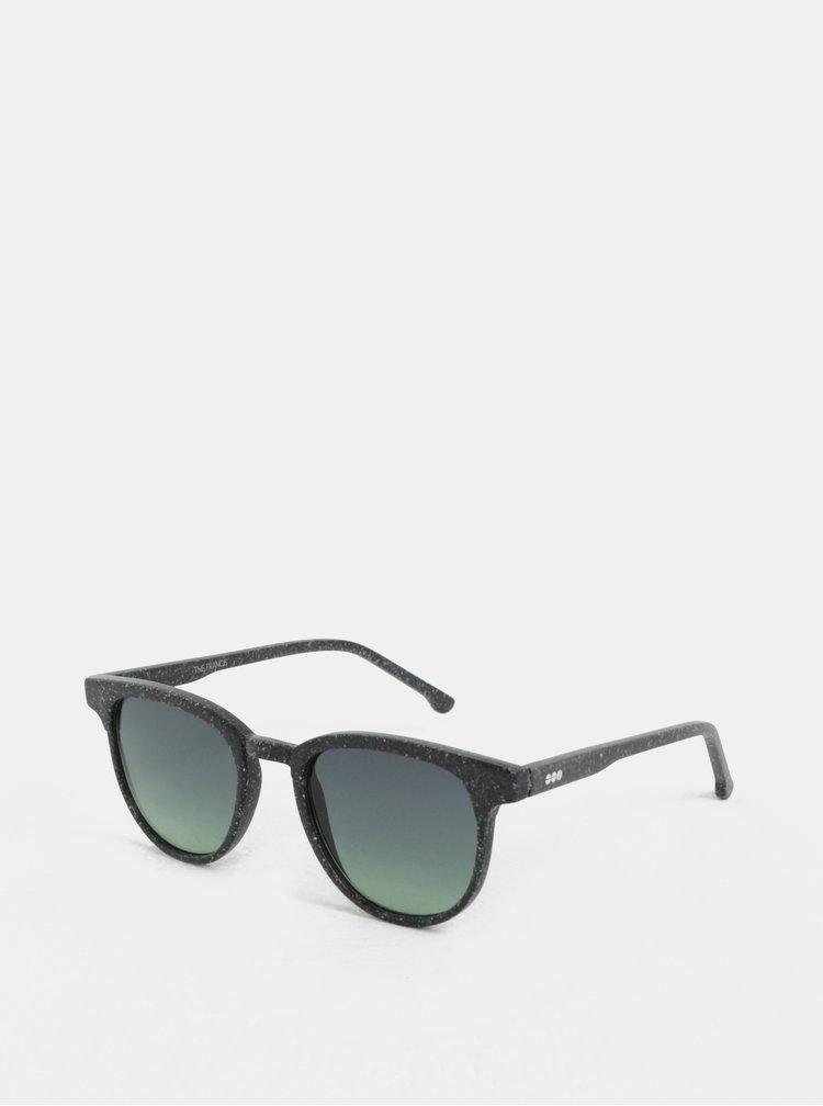 Tmavě šedé unisex sluneční brýle Komono Winston