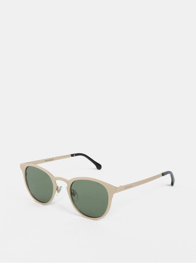 Unisex sluneční brýle ve zlaté barvě Komono Hollis