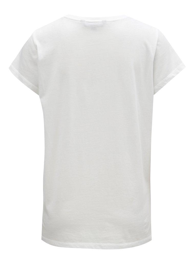 Bílé tričko s flitrovou výšivkou French Connection Cactus