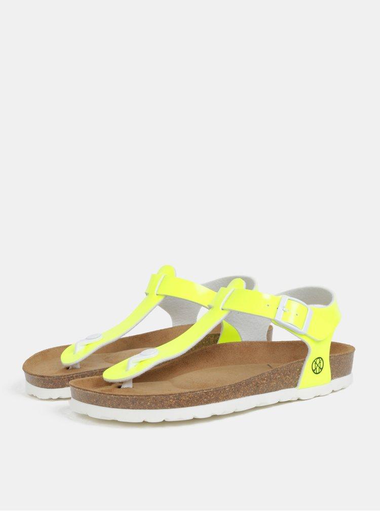Neonově žluté dámské sandály OJJU