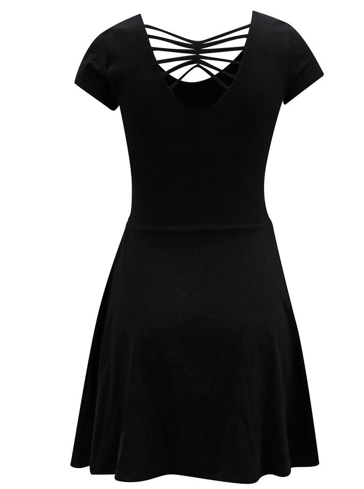 Černé šaty s krátkým rukávem TALLY WEiJL