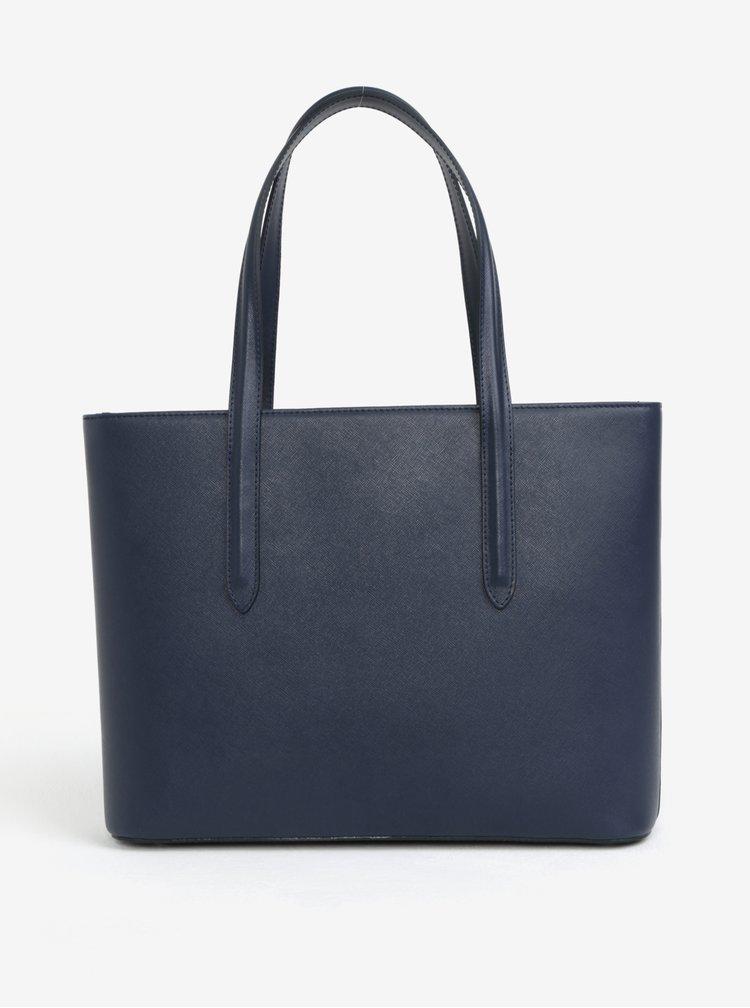 Tmavě modrá kožená kabelka přes rameno ELEGA Simone