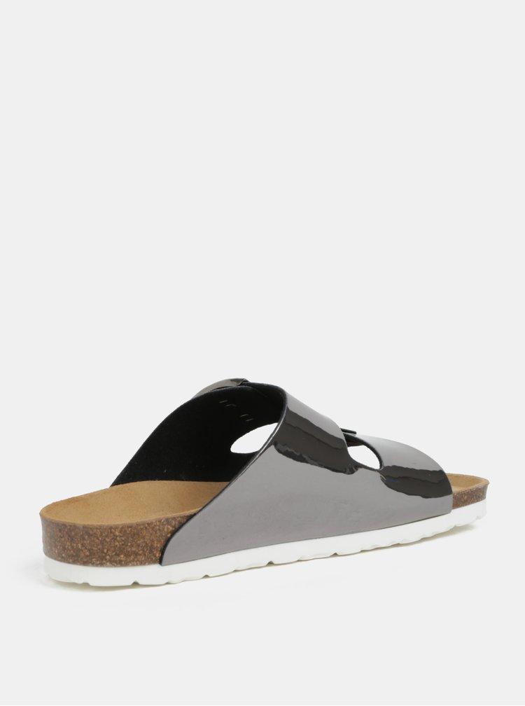 Tmavě šedé metalické pantofle OJJU Hawaii