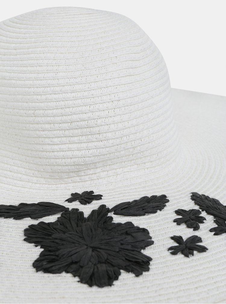 Bílý klobouk se slaměnou výšivkou Dorothy Perkins