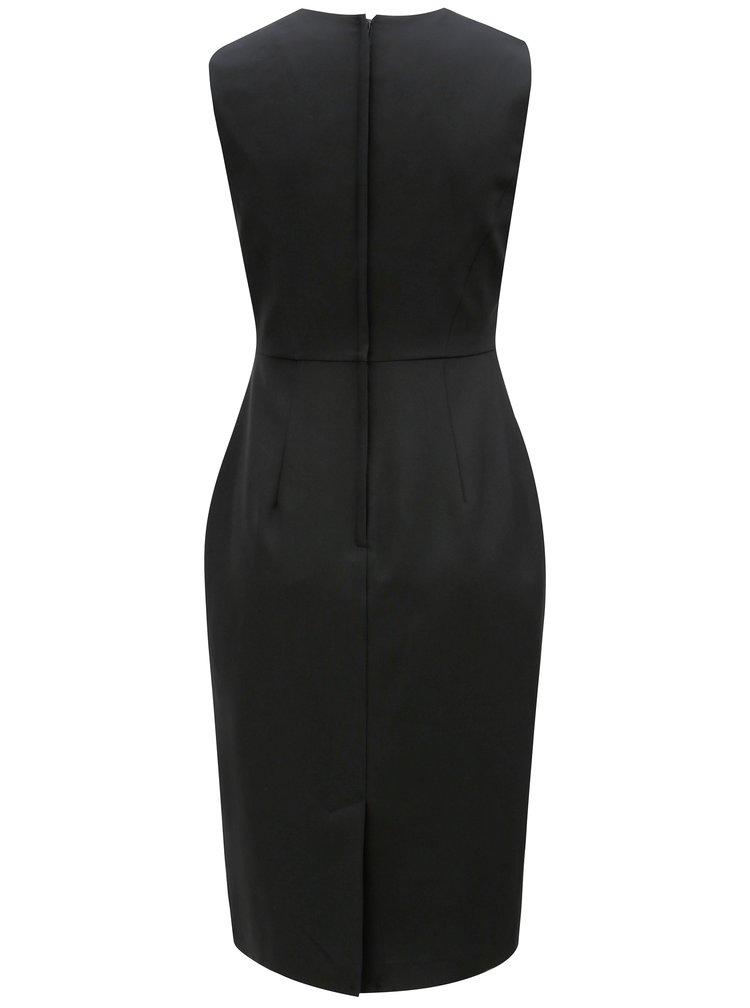 Černé pouzdrové šaty s asymetrickým výstřihem Dorothy Perkins