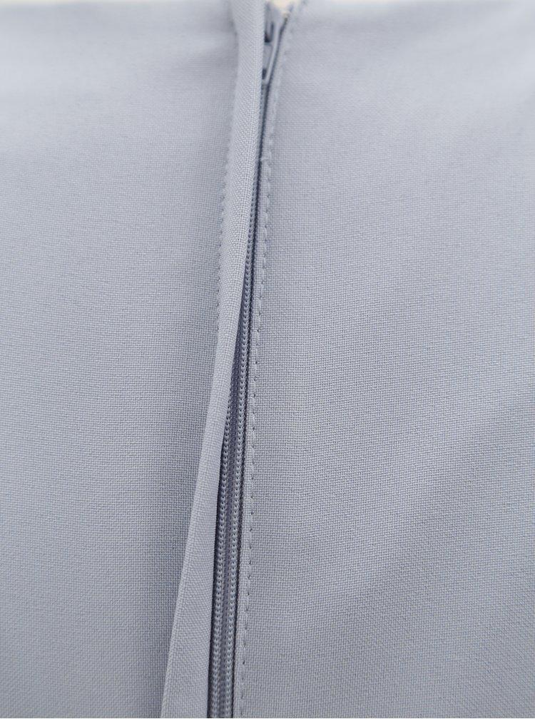 Sivé puzdrové šaty s asymetrickým výstrihom Dorothy Perkins