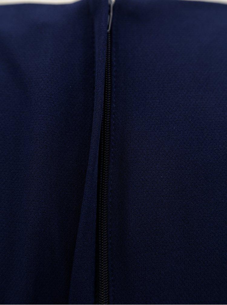 Tmavomodré puzdrové šaty s opaskom Dorothy Perkins