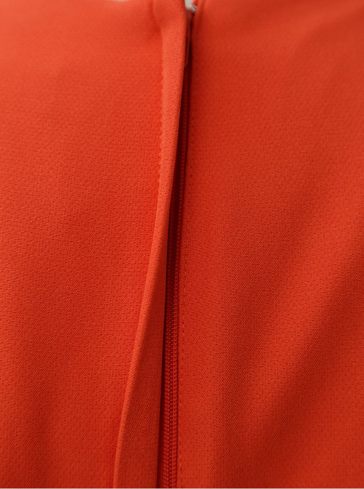 Oranžové pouzdrové šaty s páskem Dorothy Perkins
