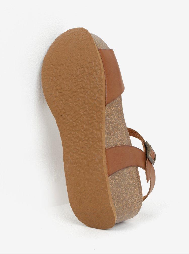 Hnědé sandály na platformě OJJU