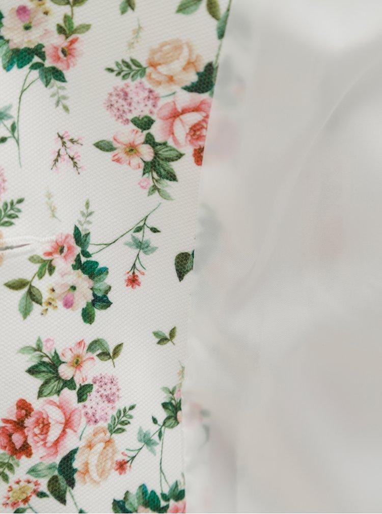 Sacou alb cu model floral Dorothy Perkins