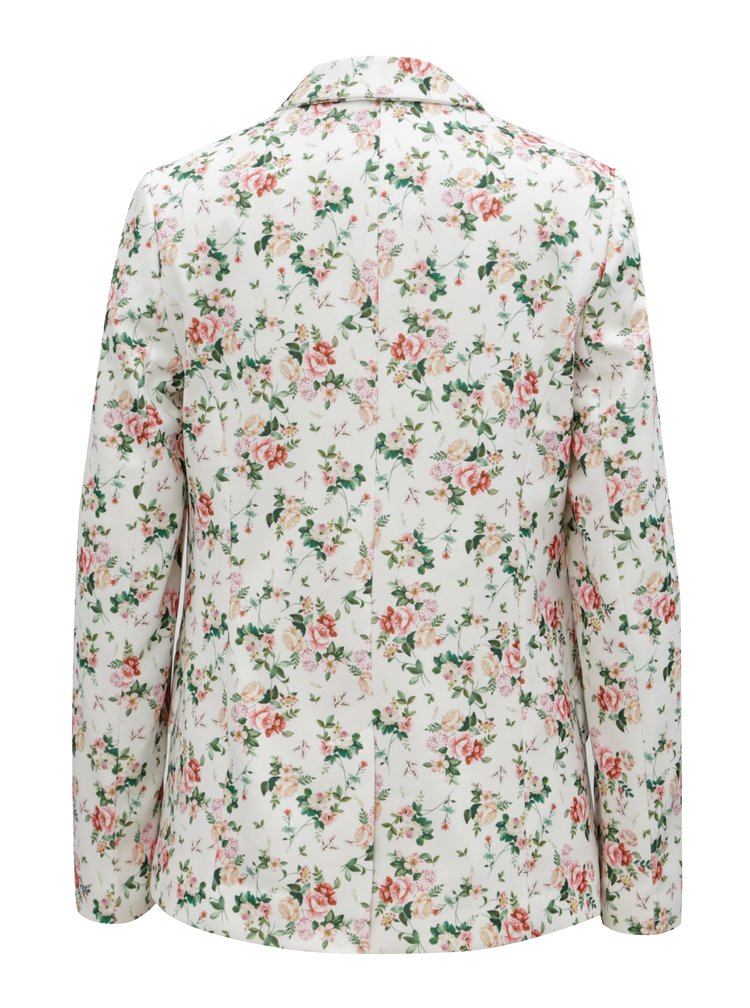 Bílé květované sako Dorothy Perkins