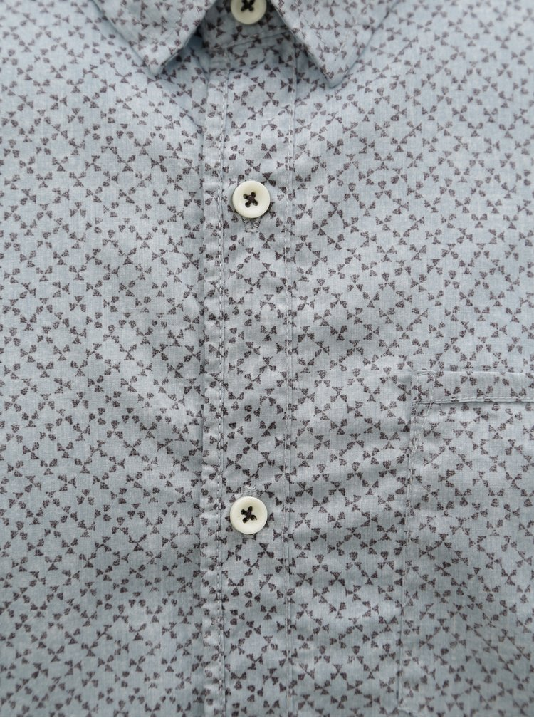 Světle modrá pánská vzorovaná košile Garcia Jeans