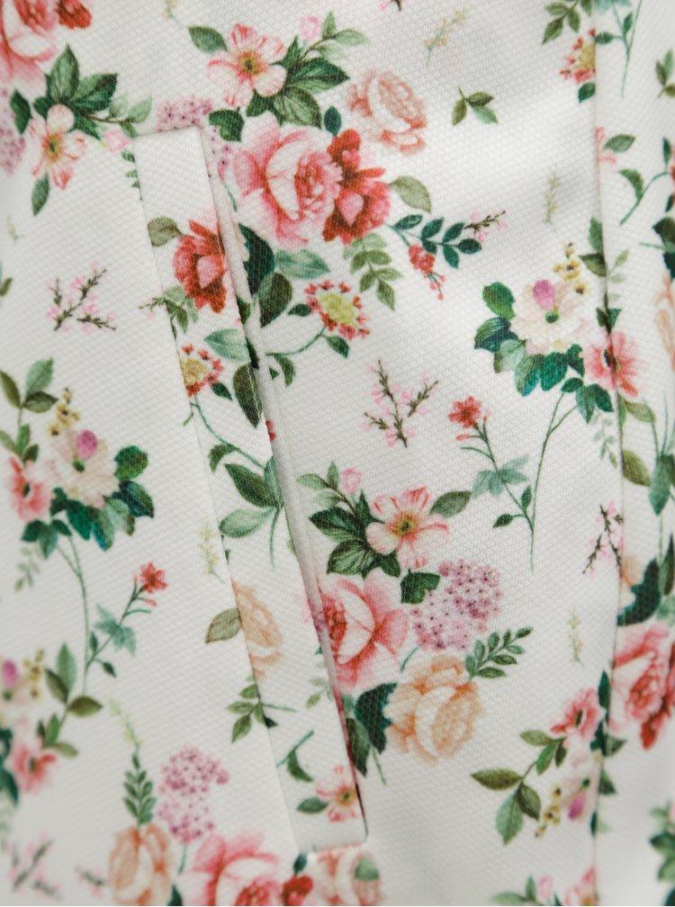 Bílé květované kraťasy Dorothy Perkins