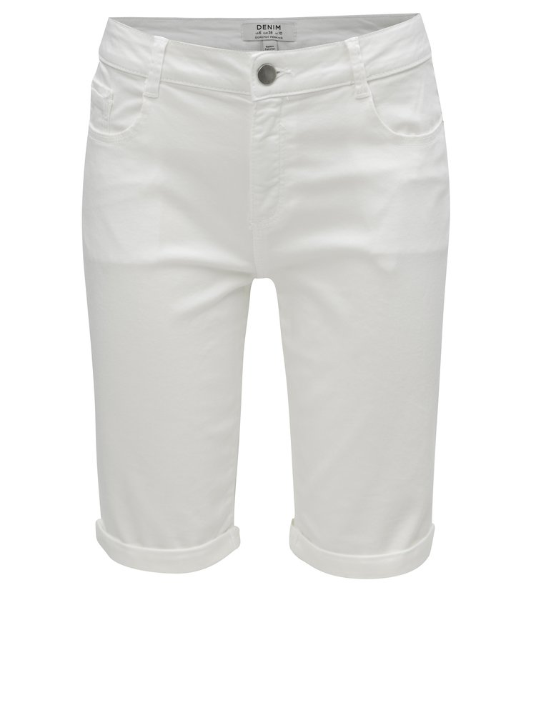 Bílé džínové kraťasy Dorothy Perkins