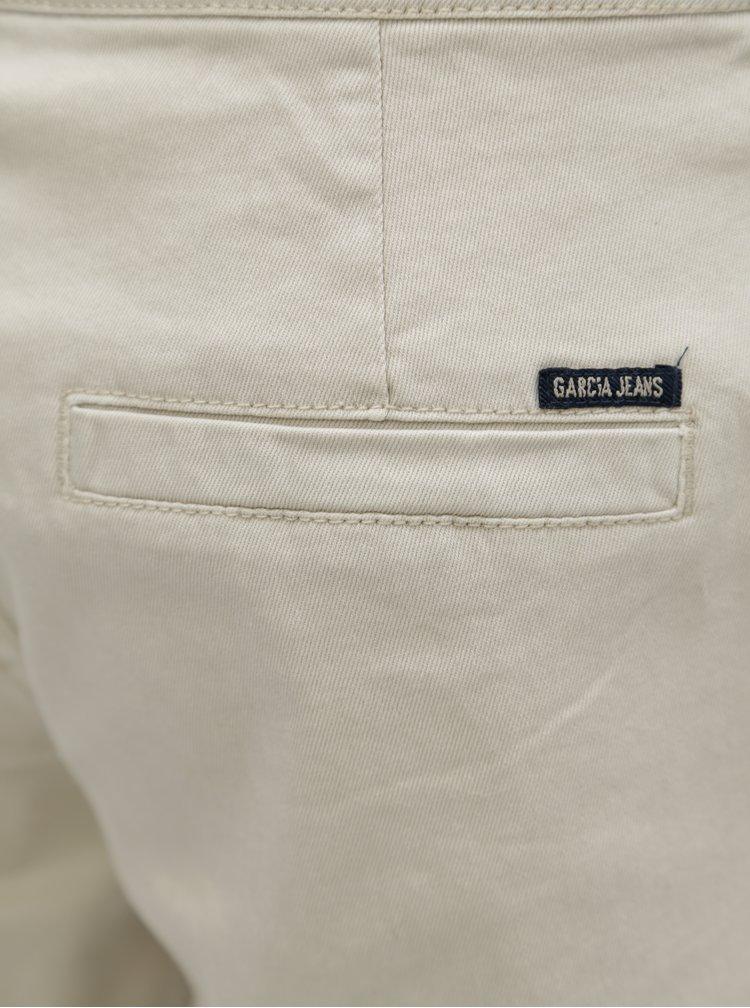 Béžové dámské kraťasy s nízkým pasem Garcia Jeans
