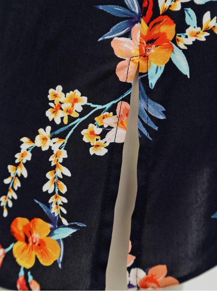 Tmavě modré květované tílko Dorothy Perkins